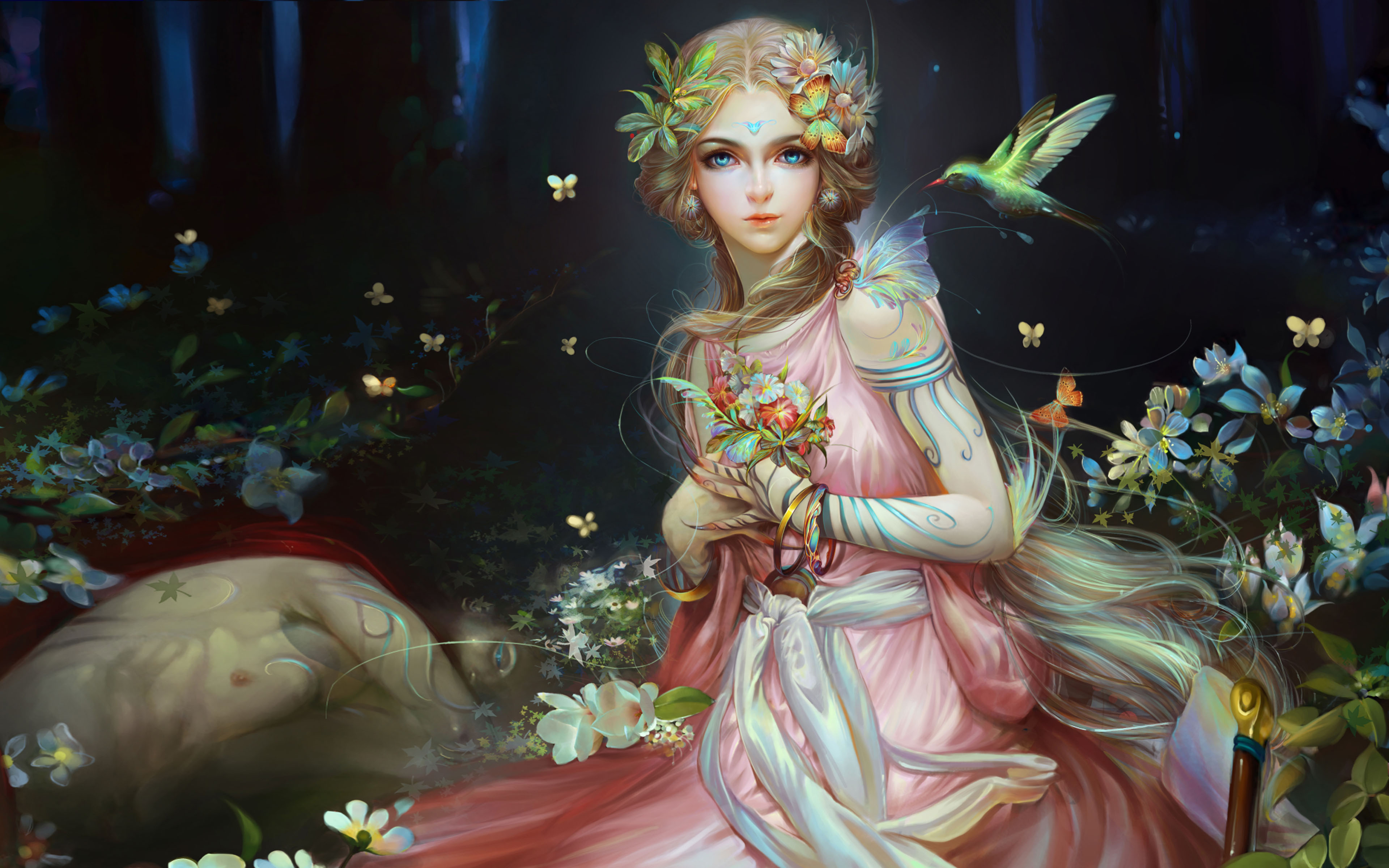 Beautiful Girl Wallpaper Hd For Pc Beautiful Fairy Fantasy Girl Mythical Creature In The