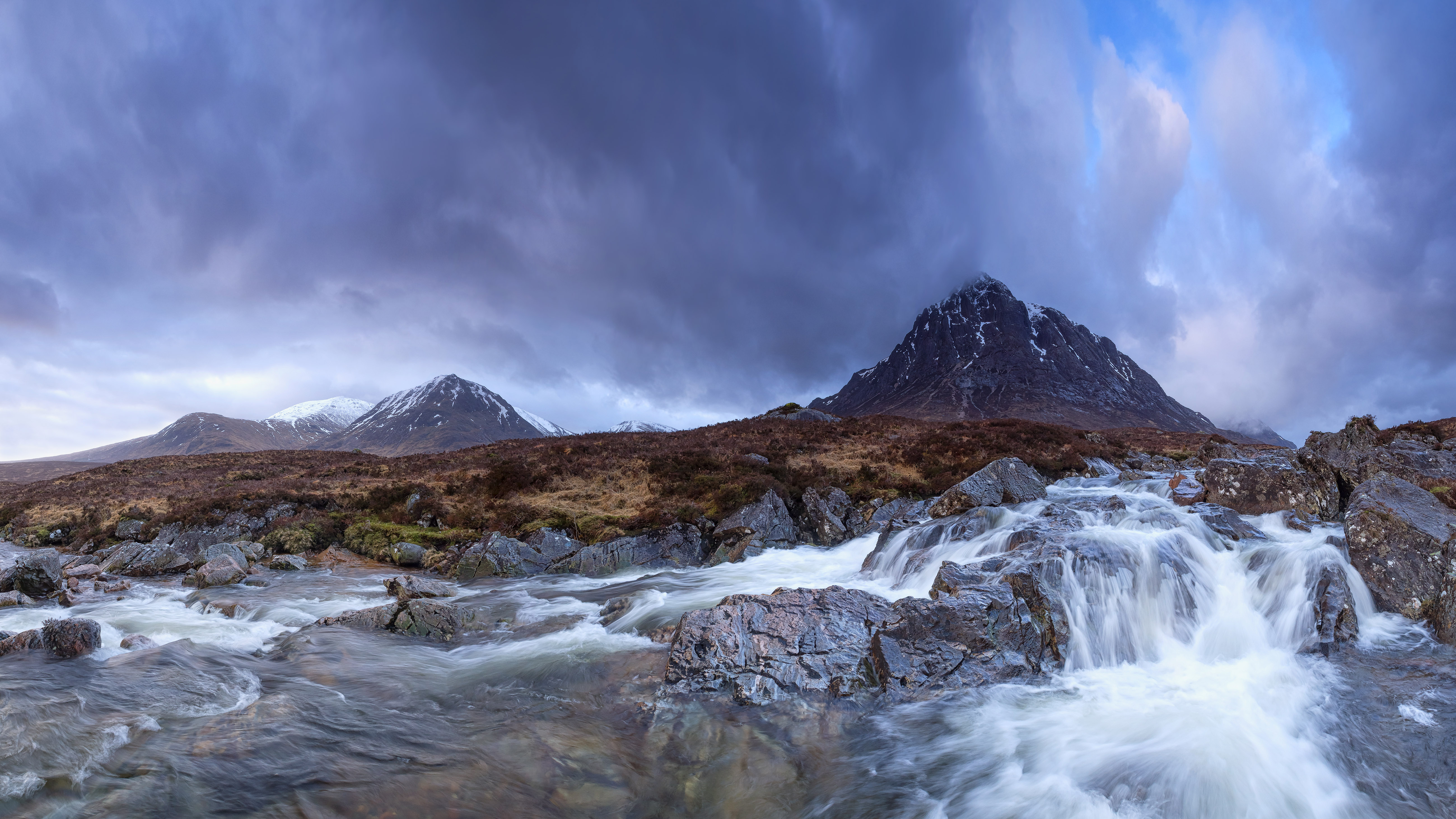 Waterfalls Desktop Wallpaper Forest Falls Waterfalls On The River Coupall In Glencoe And Buachaille
