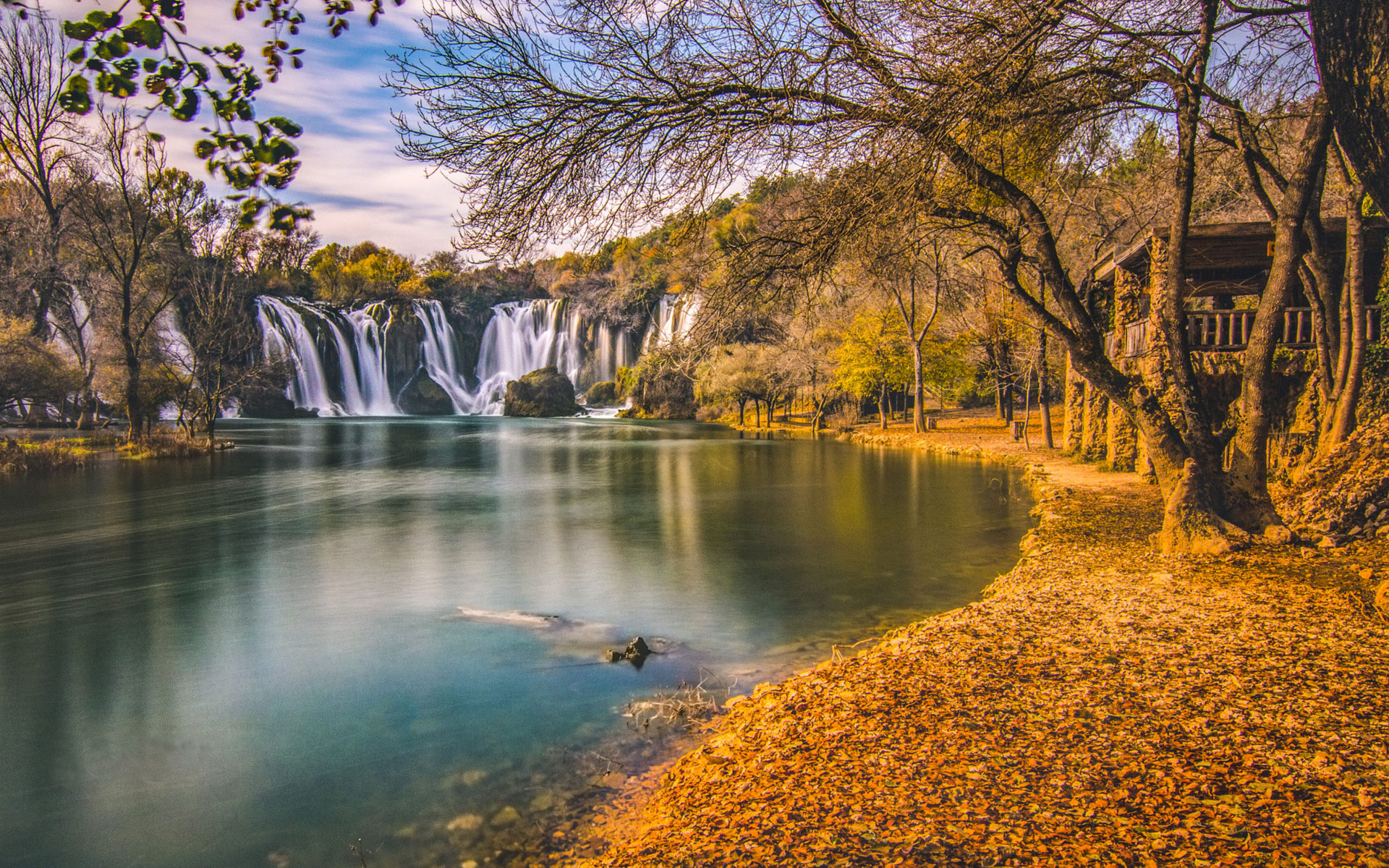 Beautiful Water Fall Scenery Wallpapers Kravice Waterfall In Bosnia Herzegovina Autumn Landscape