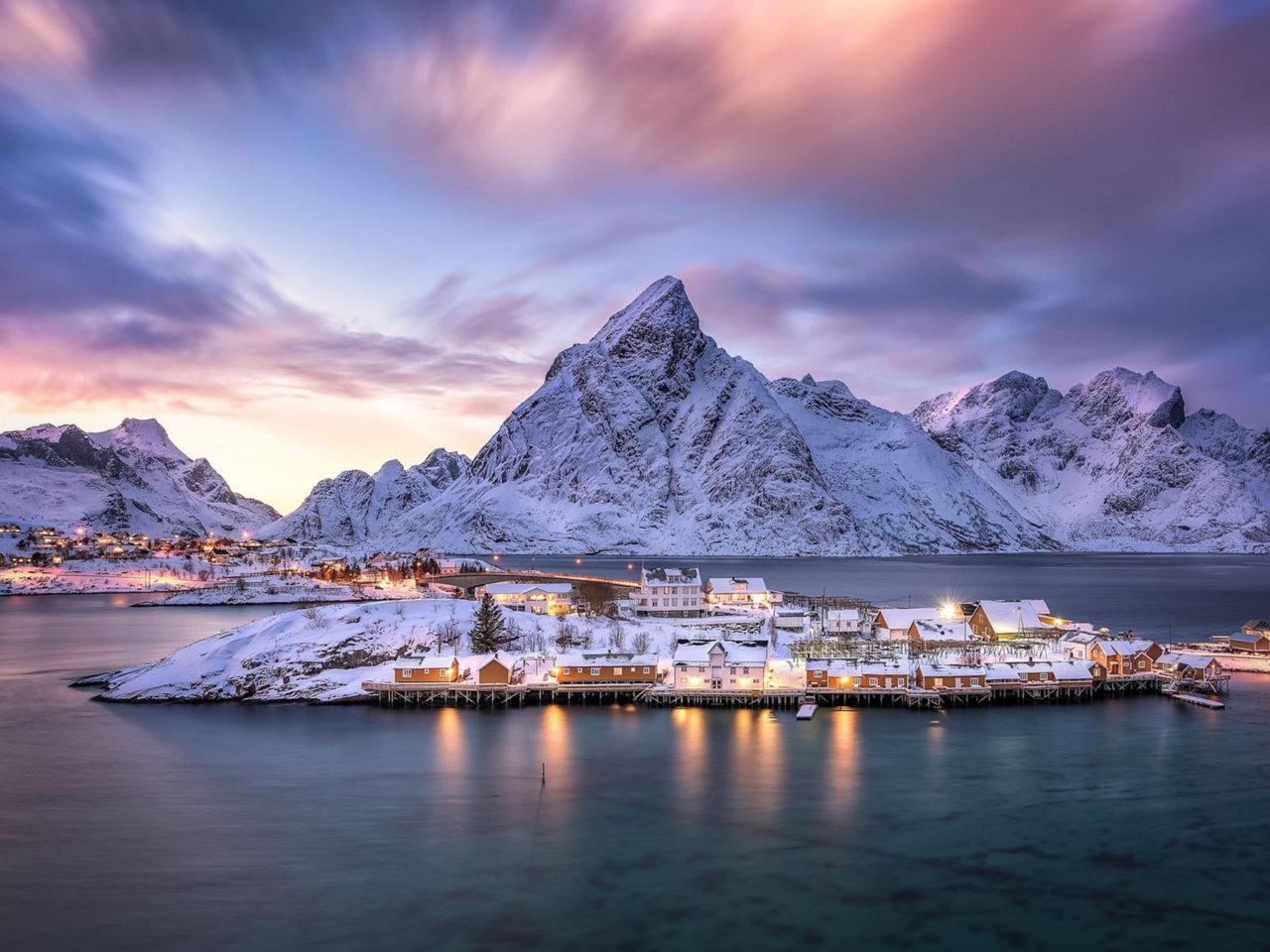 Red Wallpaper Hd Download Norway Islands Lofoten Archipelago Norway Reine Landscape