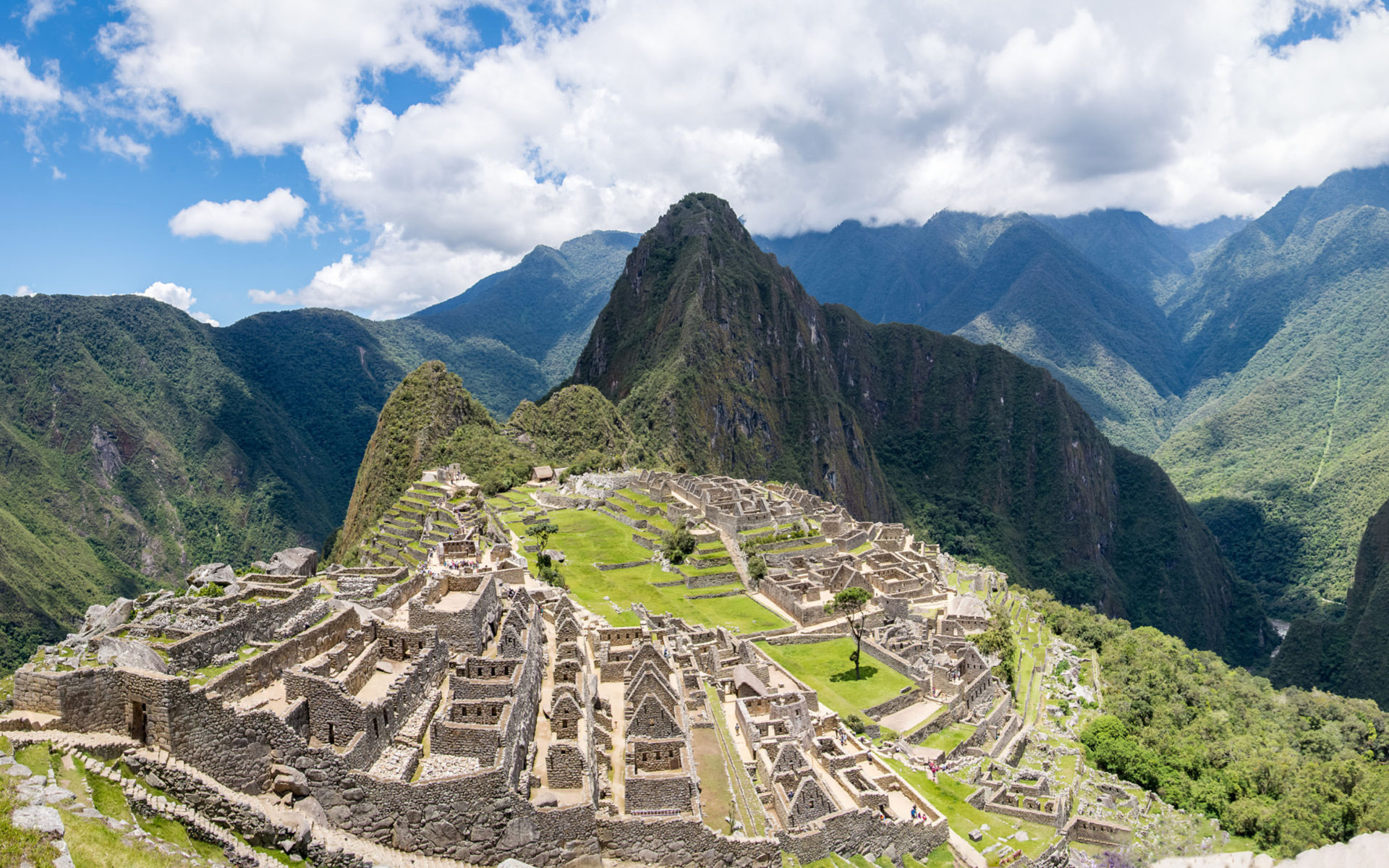 3 Creen Wallpaper Fall Wonders Of The World Machu Picchu In The Andes Mountains