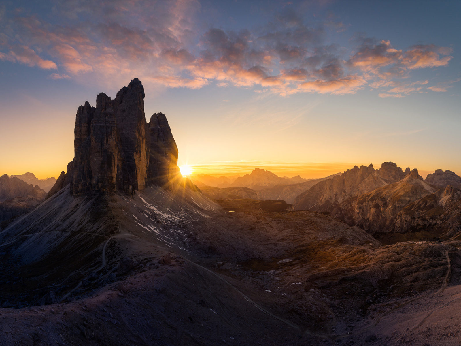 Fall Wallpaper For Iphone 4 Dolomites Italy Poster Majestic Three Peaks Tre Cime Di