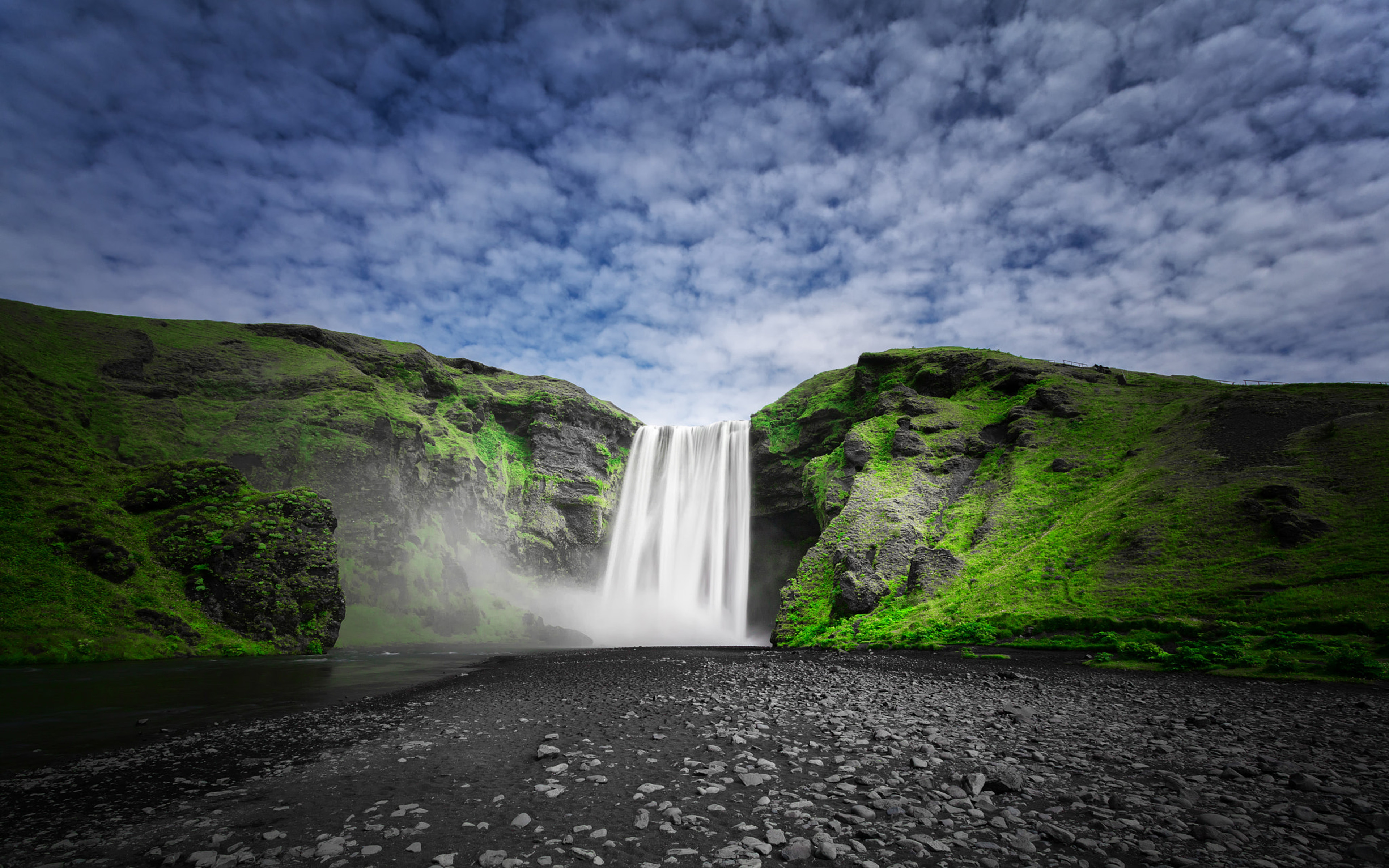 Hd Nature Phone Wallpapers Skogafoss Waterfall On The Sk 243 G 225 River In Iceland Nature