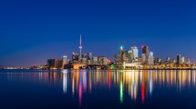 Toronto Skyline Night Android Wallpapers