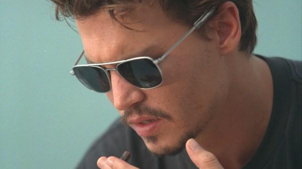 Johnny Depp with Black Eye Glasses