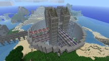 Minecraft House as Background
