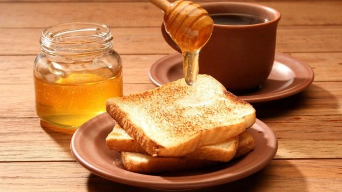 Image result for honey on bread