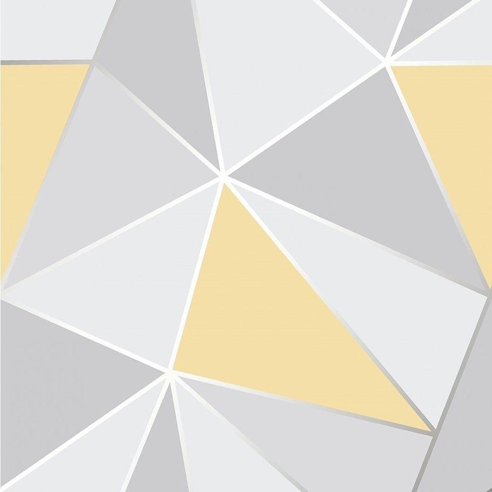 FD41991 Fine Decor Apex Geo Yellow Grey Geometric Design ...