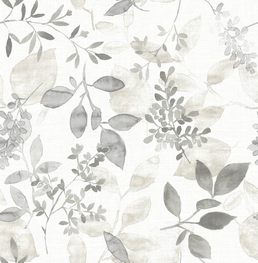 Fd23867 Grey Floral Leaves Eclipse Street Prints Wallpaper