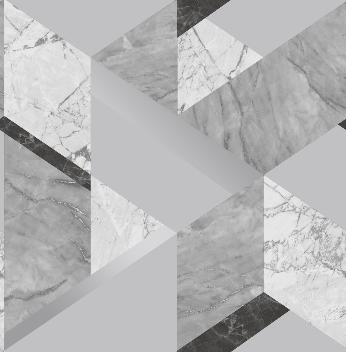 Silver Marblesque Geometric Wallpaper Sales