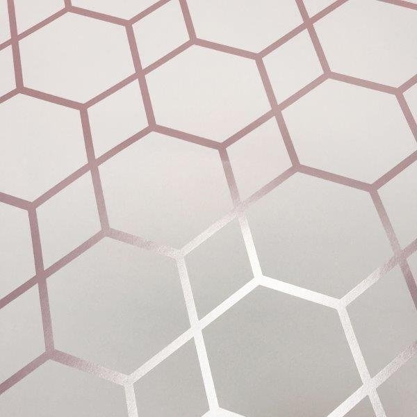Geometric Hexagon Rose Gold Wallpaper Wallpaper Sales
