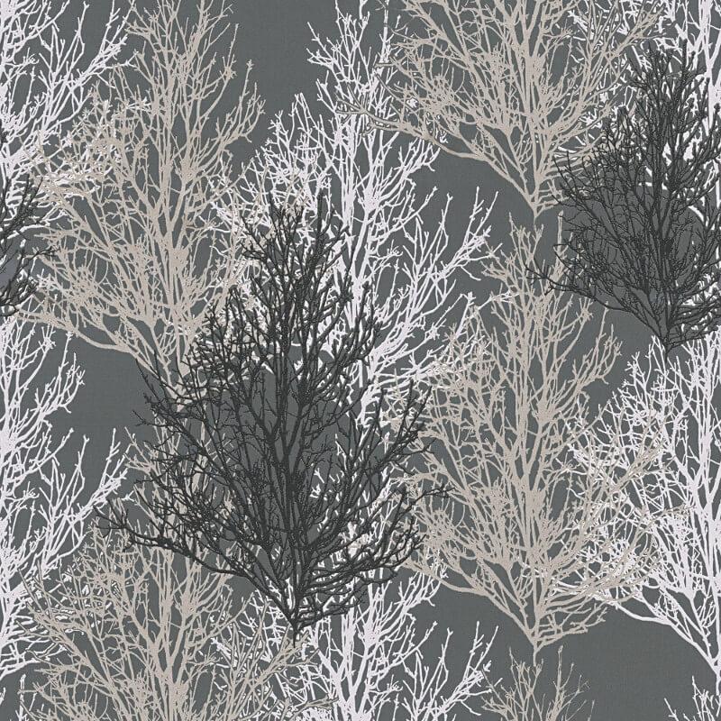 As Creation Omega Tree Blacksilver Glitter Wallpaper Wallpaper Sales