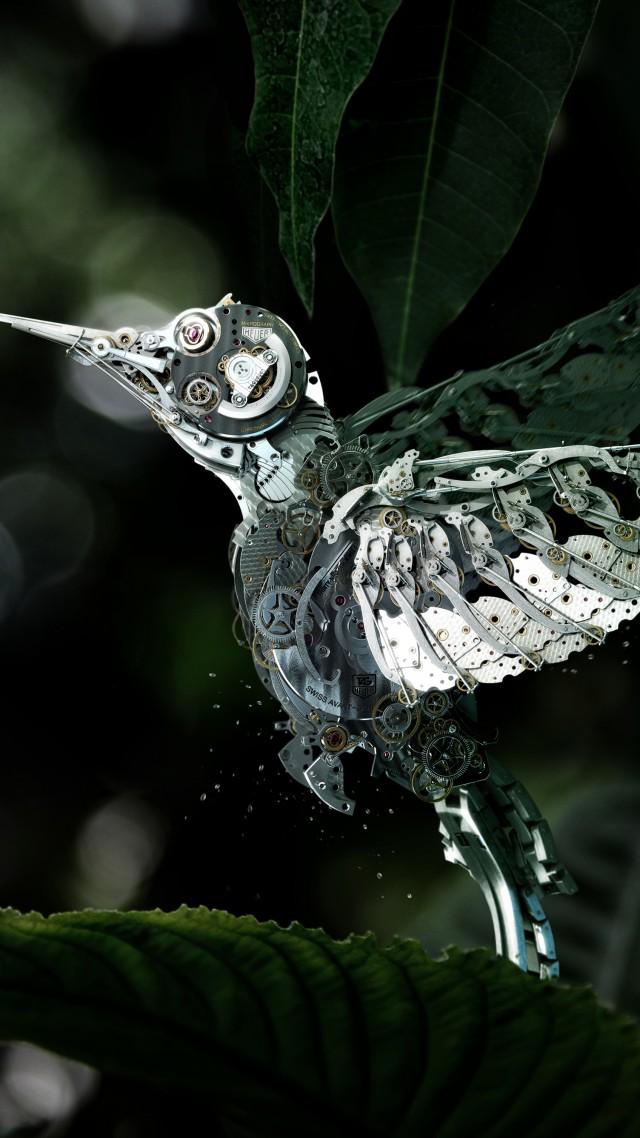 Animation Wallpaper Android Wallpaper Hummingbird Сolibri Steampunk Flower Leaves