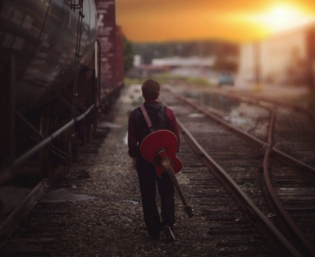 Country Quotes Phone Wallpaper Download Alone With Guitar Wallpaper Gallery