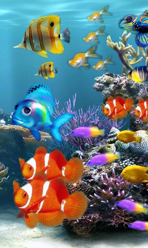 How To Make A Gif Your Wallpaper Iphone Download Aquarium Wallpaper For Mobile Gallery