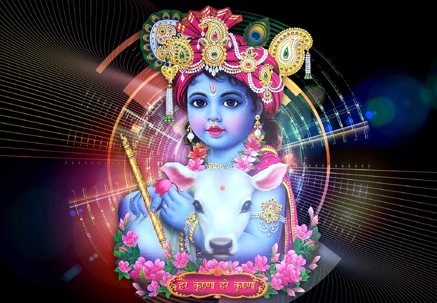 God Laxmi 3d Wallpaper Download Baby Krishna Hd Wallpaper Gallery