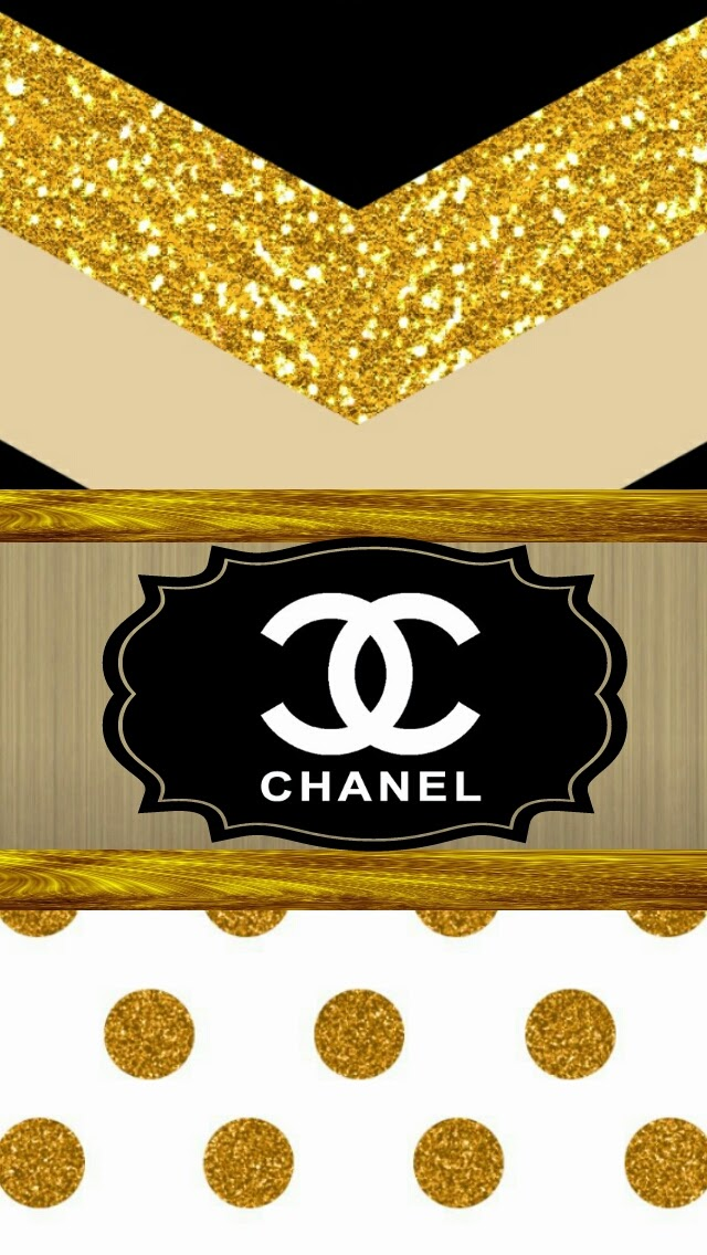 Galaxy Wallpaper Iphone With Quotes Download Chanel Gold Wallpaper Gallery