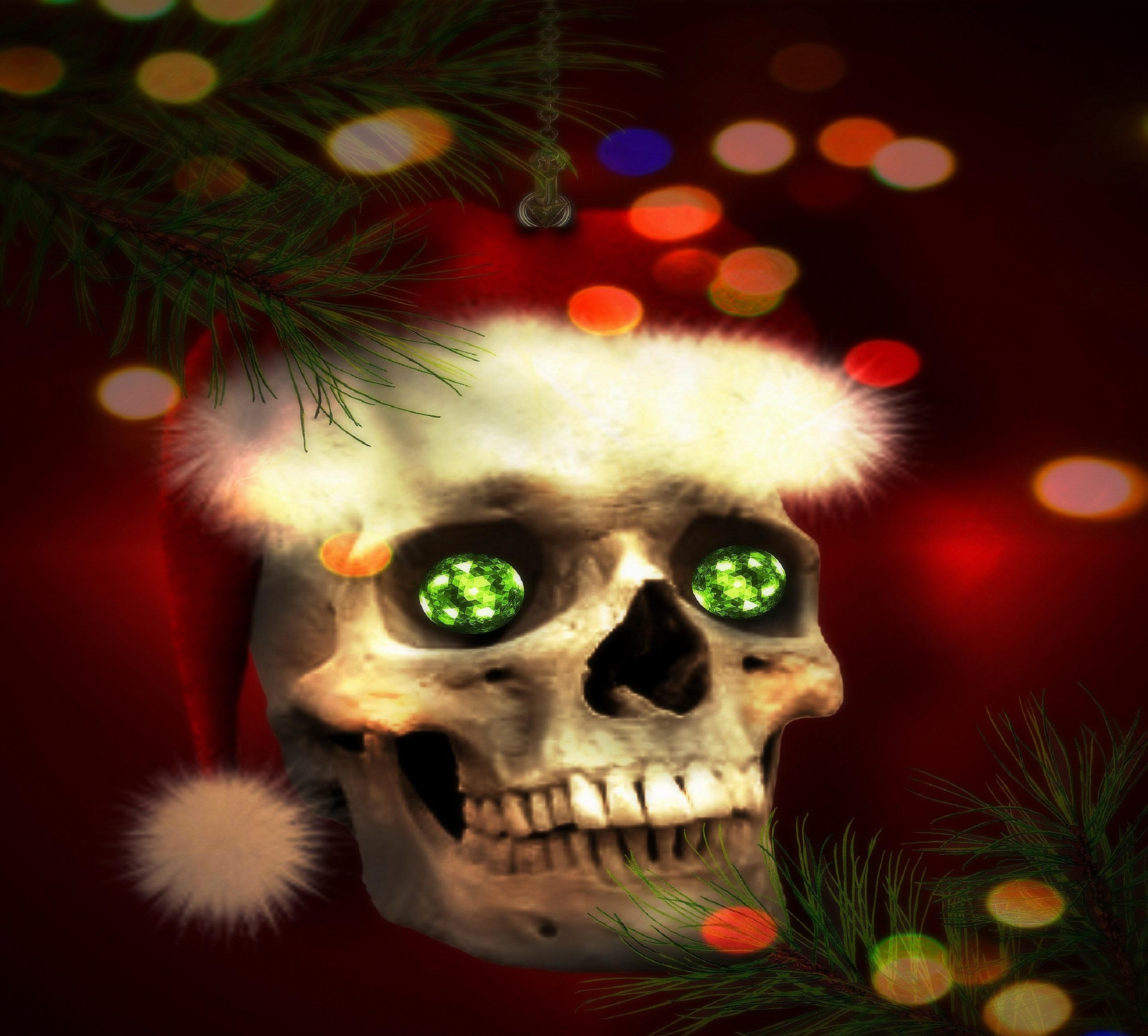 Home Screen Cute Wallpapers For Girls Download Christmas Skull Wallpaper Gallery