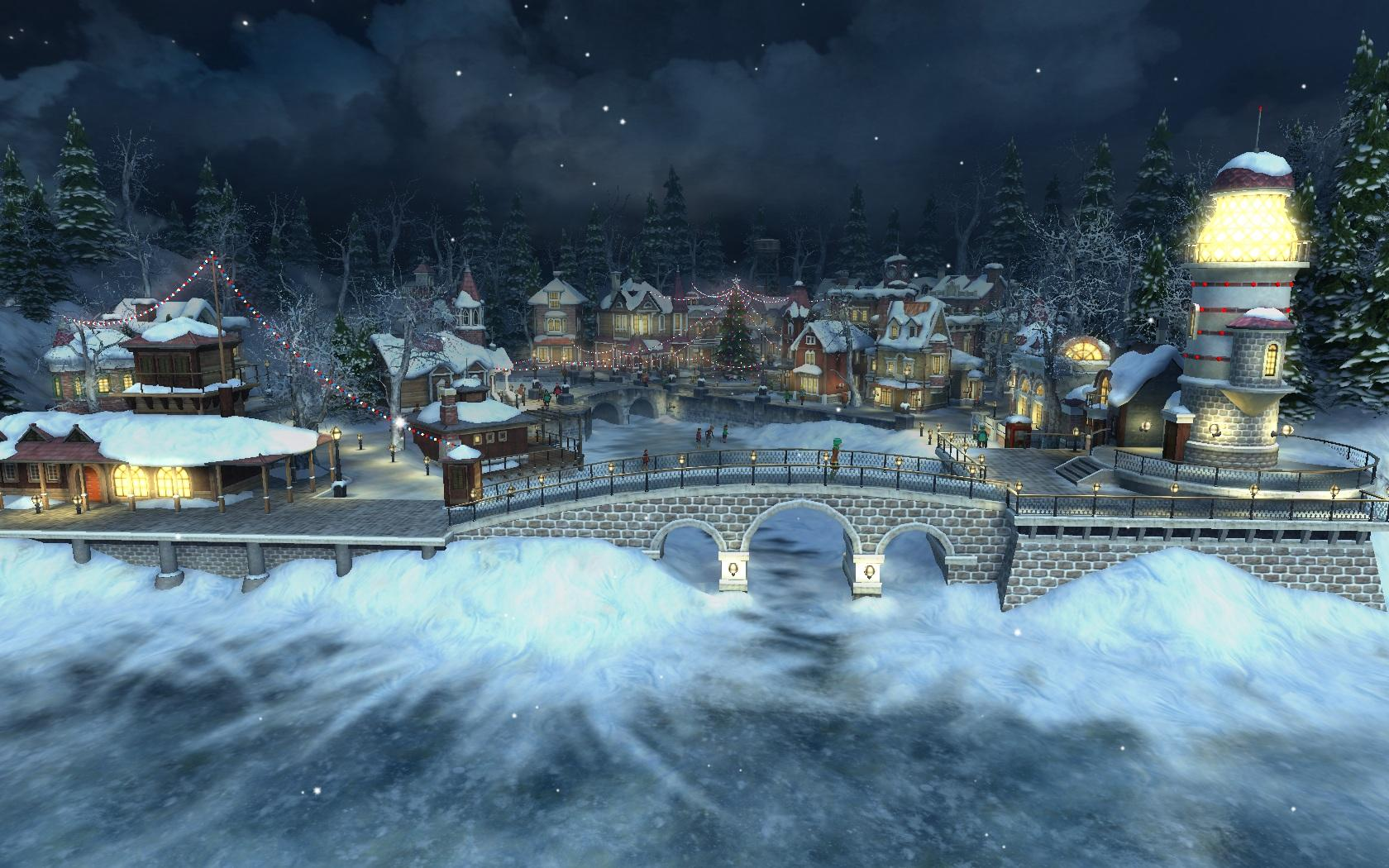 Falling Snow Live Wallpaper Iphone Download Christmas Village Wallpaper Gallery