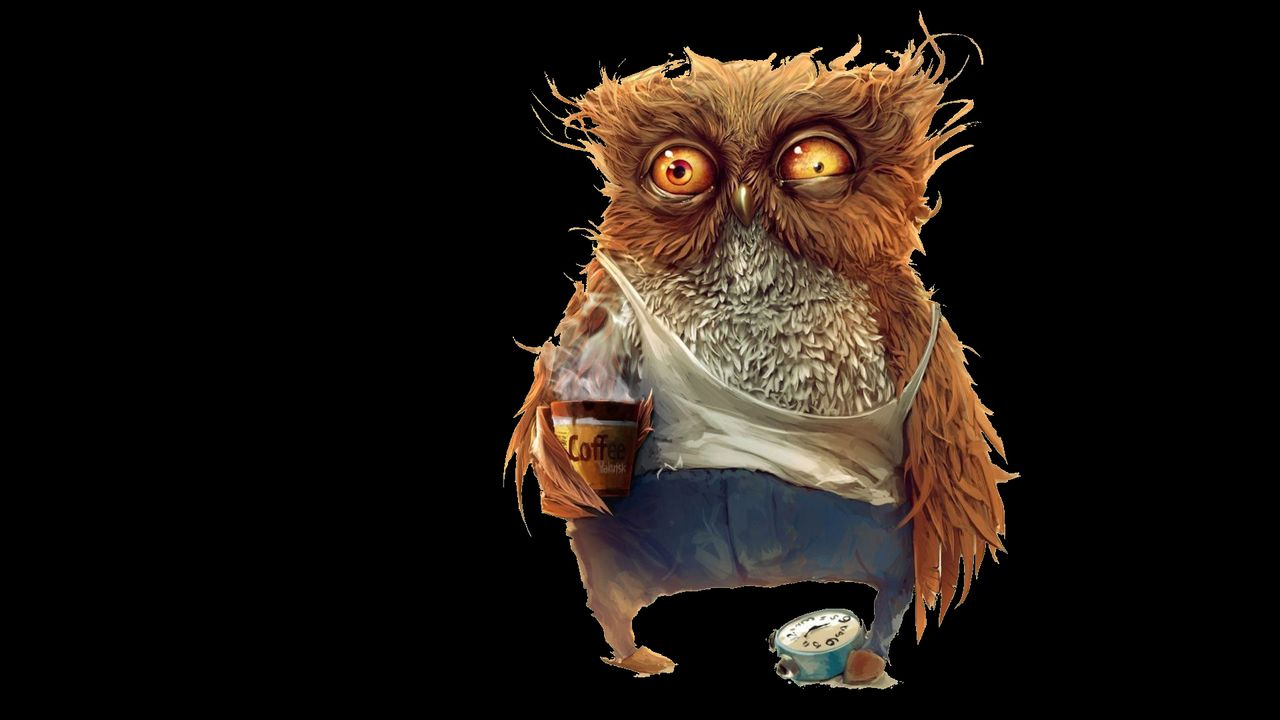 3d Live Phone Wallpapers Download Coffee Owl Wallpaper Gallery
