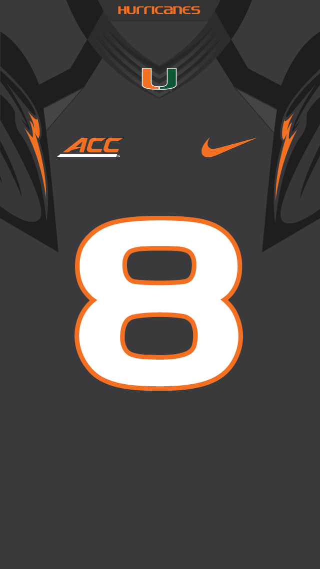 Miami Hurricanes Iphone Wallpaper Download College Football Iphone Wallpaper Gallery