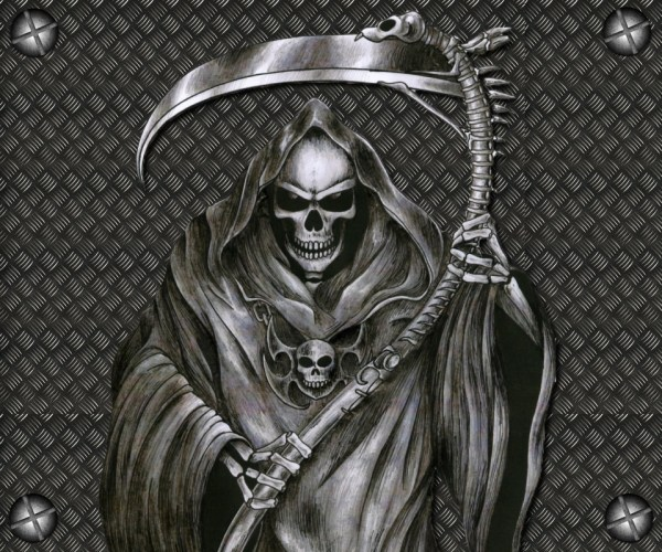 20 Background With Skulls Reaper Tattoos Ideas And Designs