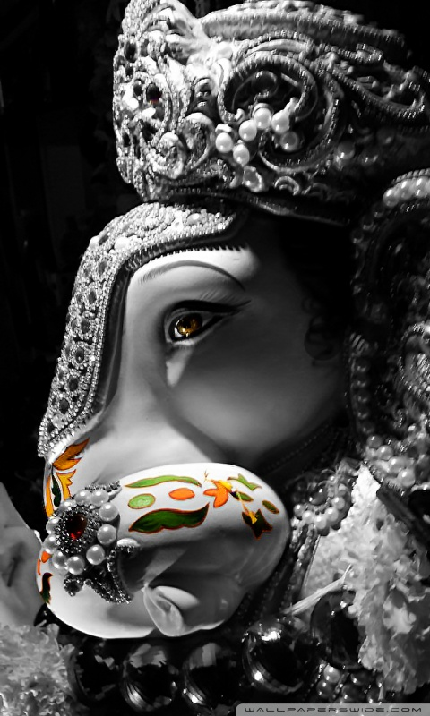 Download Ganpati HD Wallpaper For Mobile Gallery