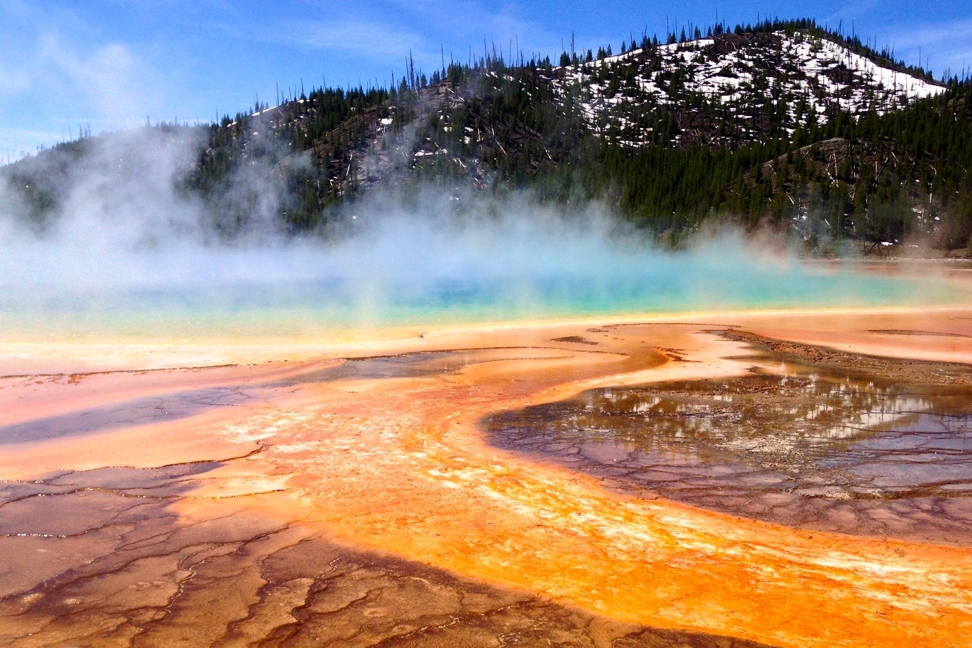 Plain Iphone Wallpaper Download Grand Prismatic Spring Wallpaper Gallery