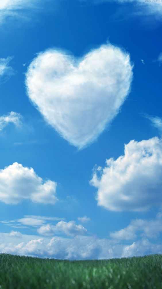 Cute Lovely Wallpaper For Mobile Download Heart Cloud Wallpaper Gallery