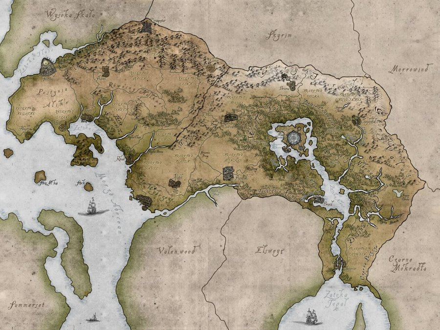 Oblivion Iphone Wallpaper Download Map Of Tamriel Wallpaper Gallery
