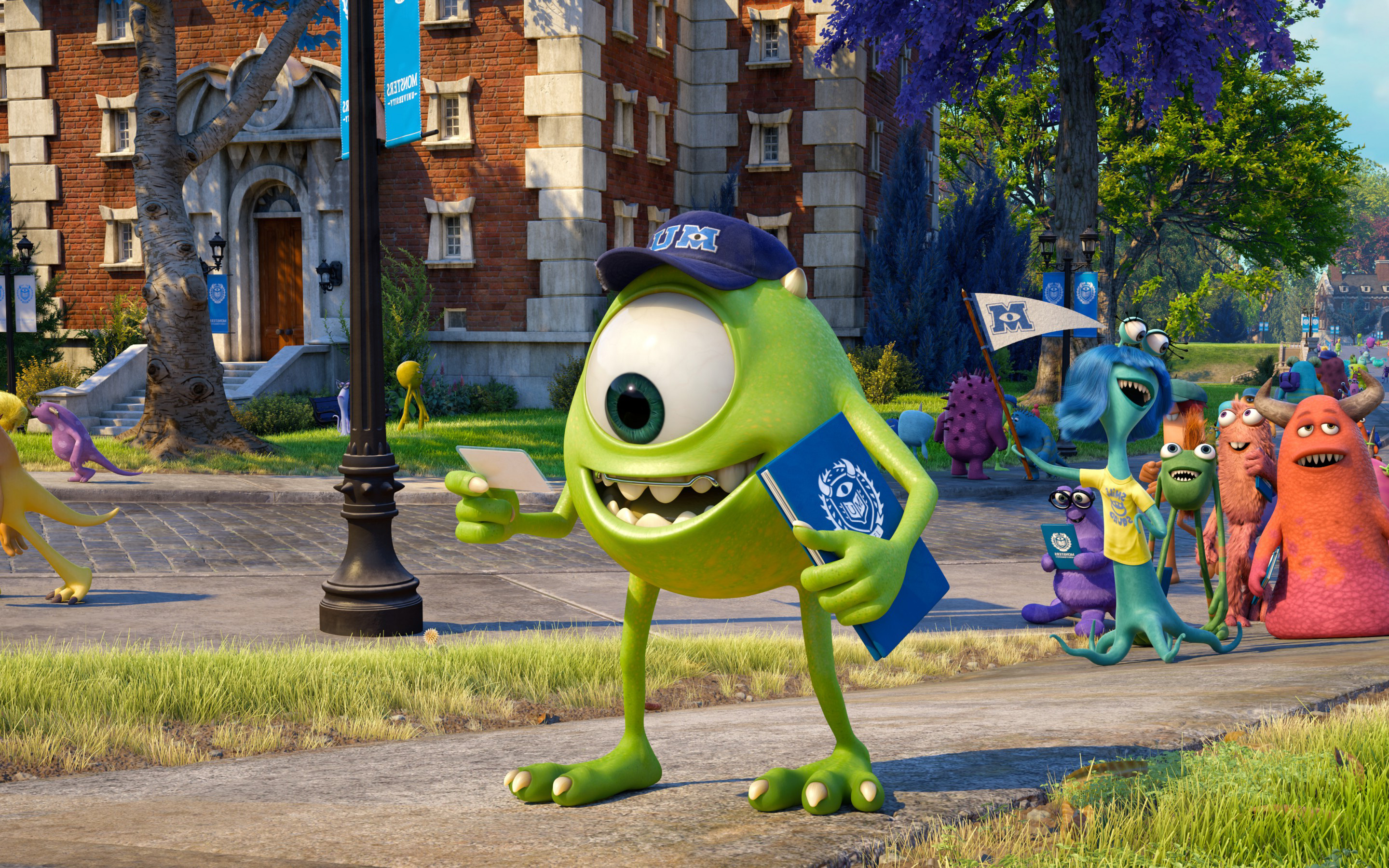 Monster University Wallpaper Hd Download Monsters University Wallpaper Gallery