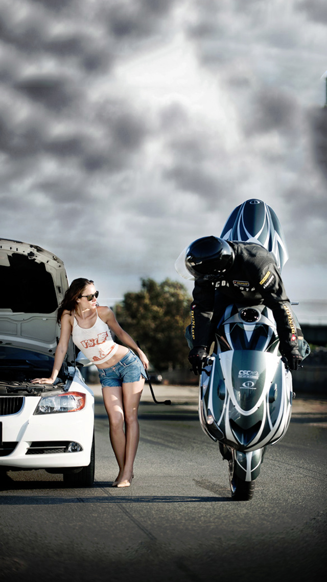 Wallpapers For Girls Iphone 3d Download Motorcycle Iphone Wallpaper Gallery