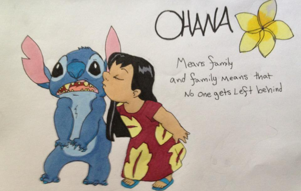 Cute Stitch Wallpapers For Computer Screen Download Ohana Means Family Wallpaper Gallery
