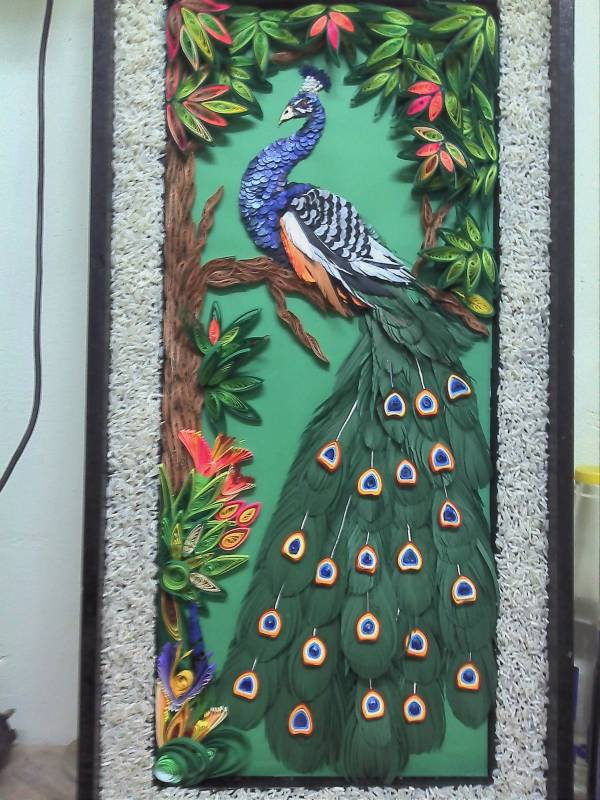 Paper Quilling Peacock Pattern