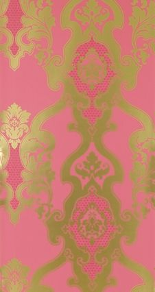 3d Rose Live Wallpapers Download Download Pink And Gold Damask Wallpaper Gallery