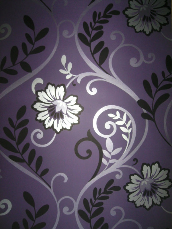 Cute Floral Wallpaper Wide Download Purple And Silver Wallpaper Gallery