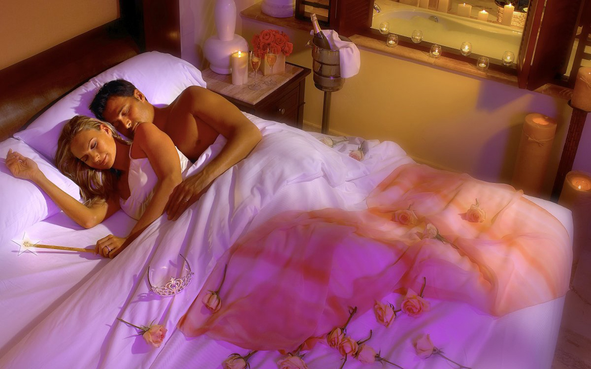 Ashish Name 3d Wallpaper Download Romantic Couple In Bed Wallpaper Gallery