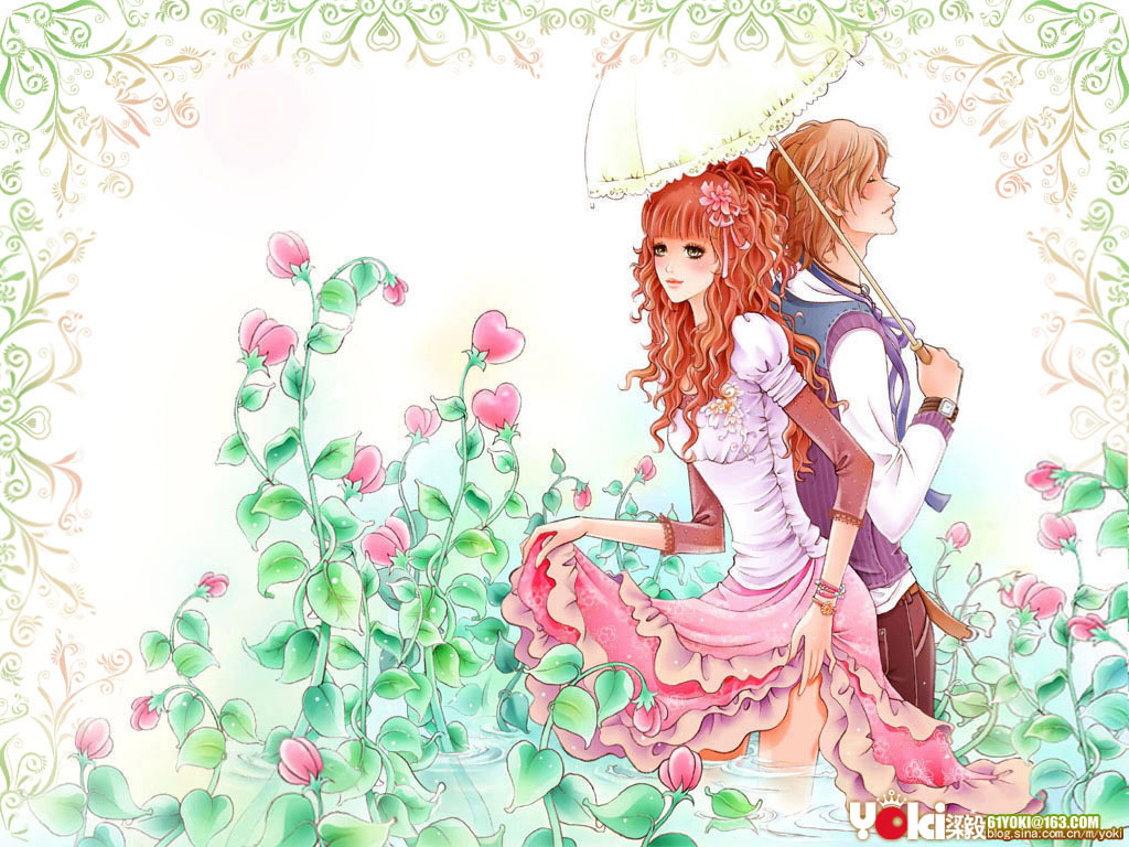 Cute Animated Fairy Wallpapers Download Romantic Love Cartoon Wallpaper Gallery