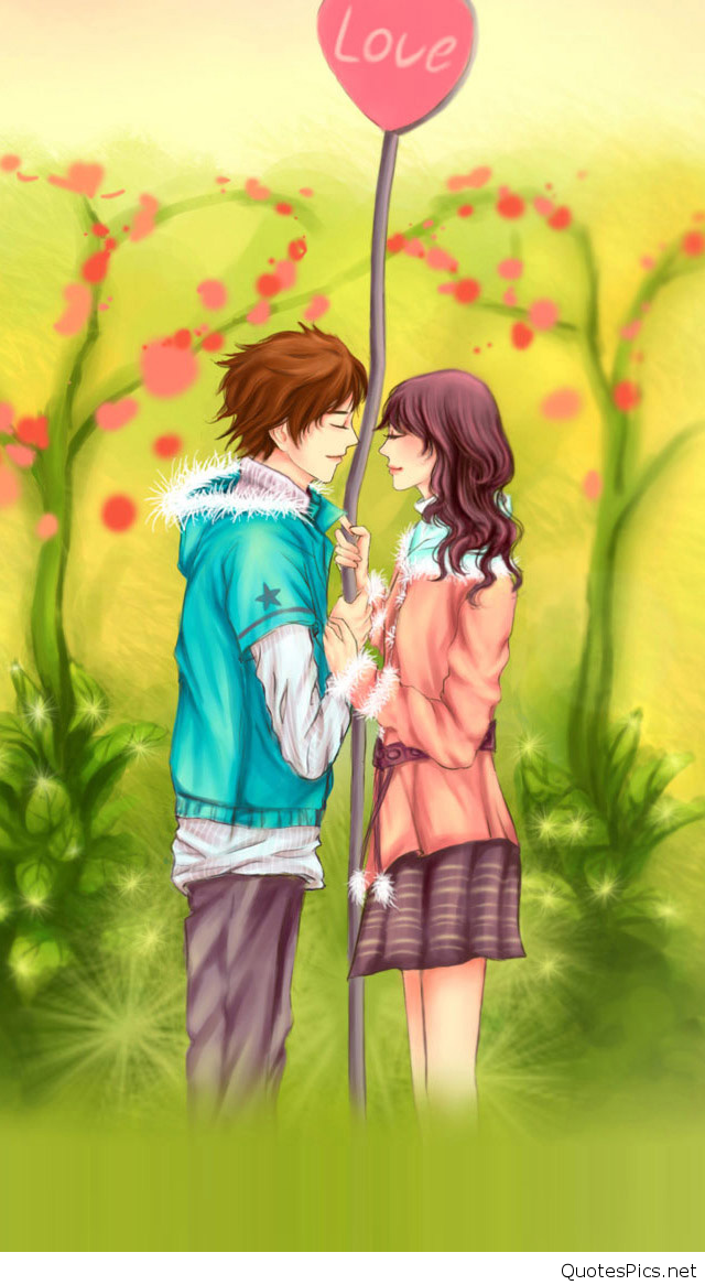 """""""cartoon couple wallpaper"""" features a lot of handpicked hd images and clean pictures, perfect for making your device look even cooler! Download Romantic Love Cartoon Wallpaper Gallery"""
