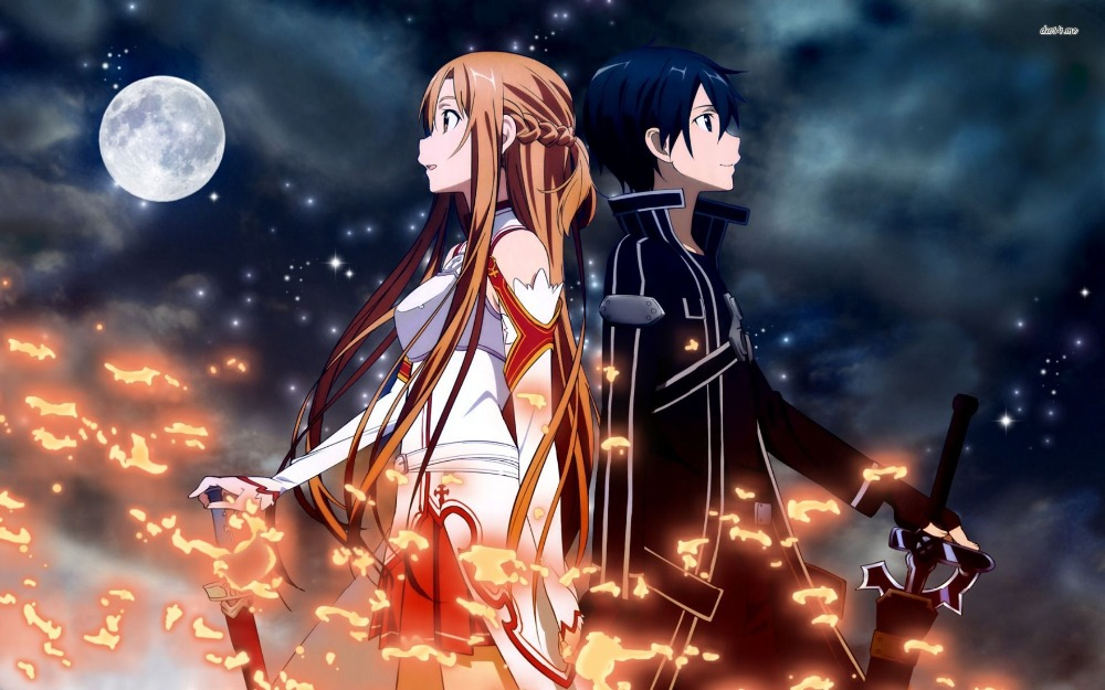 Funny Frog Wallpaper Quotes And Pictures Download Sword Art Online Kirito And Asuna Wallpaper Gallery