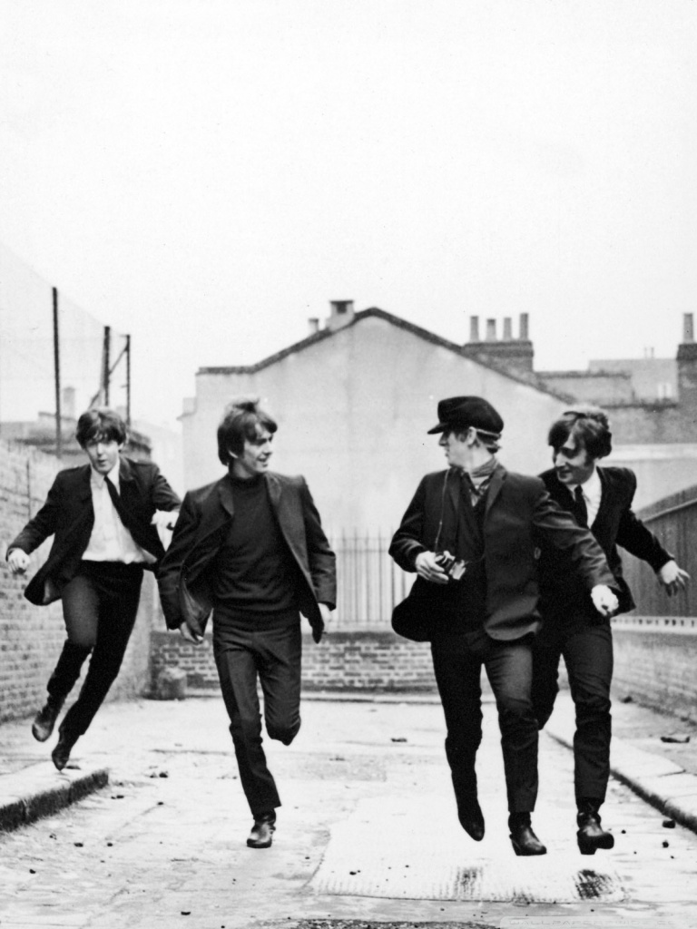 Black And Blue Floral Wallpaper Download The Beatles Phone Wallpaper Gallery