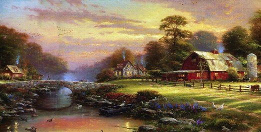 Download Free Live Wallpapers 3d Download Thomas Kinkade Wallpaper Border Gallery