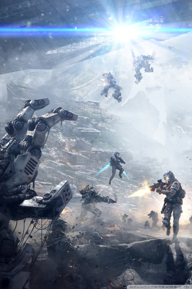 How To Make A Gif Your Wallpaper On Iphone Download Titanfall Wallpaper Iphone Gallery