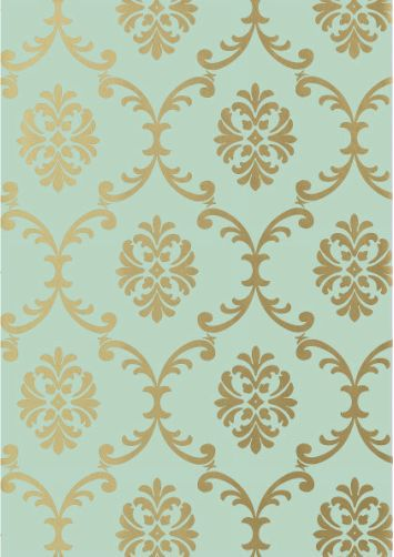 How To Download Live Wallpapers For Iphone Download Turquoise And Gold Damask Wallpaper Gallery