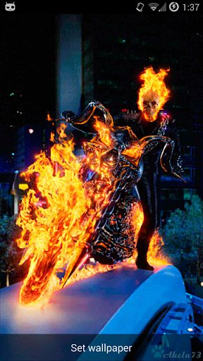 Wallpapers For Girls Iphone 3d Download Ghost Rider Live Wallpaper Download Gallery