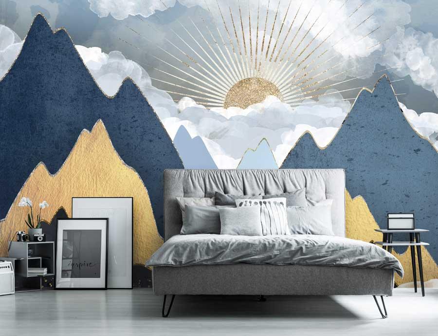 Navy Gold Bedroom 900x690 Download Hd Wallpaper Wallpapertip