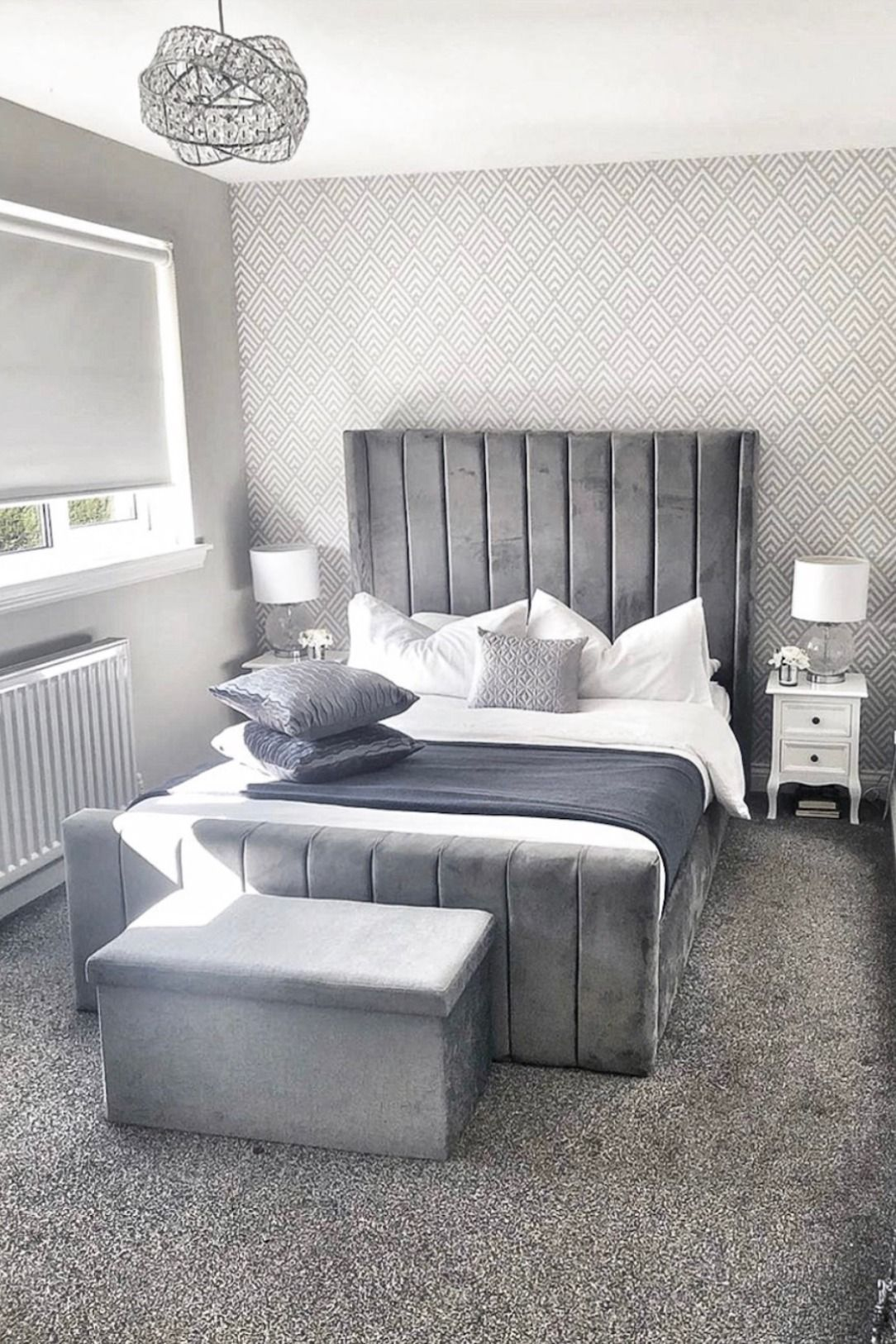small bedroom ideas silver 1084x1626