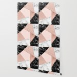 Modern Rose Gold Glitter Black White Marble Geometric Patchwork 1500x1500 Download Hd Wallpaper Wallpapertip