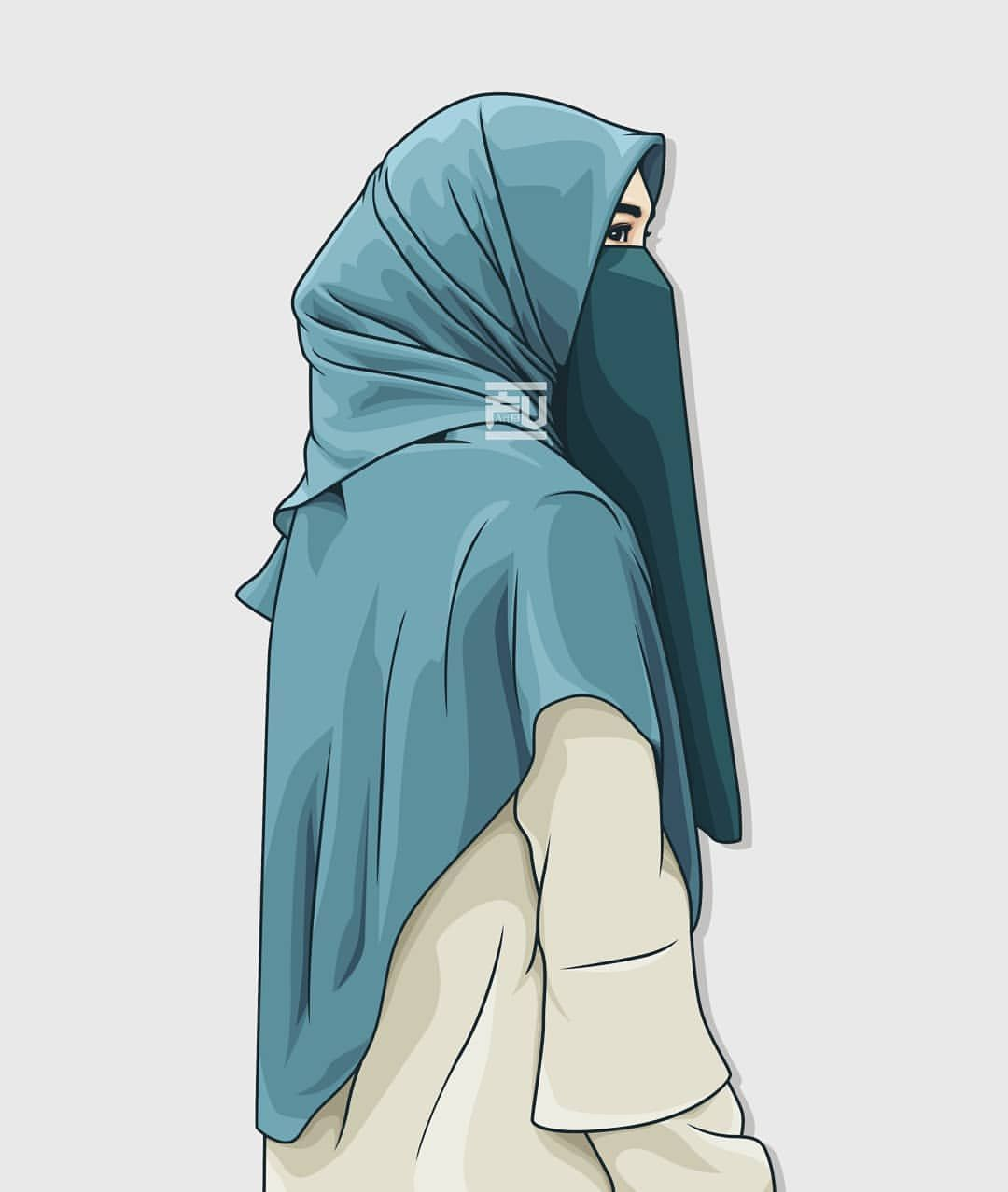 No need to register, buy now! Wallpaper Muslimah Hijab Cartoon Niqab Girl 1080x1277 Download Hd Wallpaper Wallpapertip