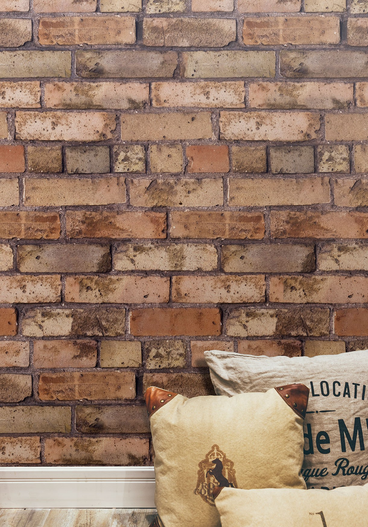 papier peint brique marron 1220x1745
